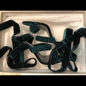 c0366beddfbf Jimmy Choo Shoes - Jimmy Choo Green Velvet Heels